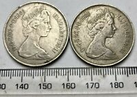 1968 & 1969 10p Coins - one must be a REALLY outrageous ERROR!!!!!!!!!!!! (B615)