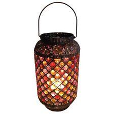 Antique Bronze Ornate Vintage Jewelled Morrocan Lantern Metal Table Lamp NEW
