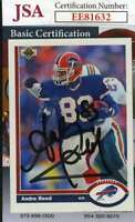 Andre Reed 1991 Upper Deck Jsa Coa Hand Signed Authentic Autograph