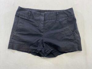 Daisy Fuentes Women's Khaki Shorts Size 8 Black Stretch Mid Rise