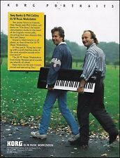 Phil Collins & Tony Banks 1991 Korg 01/W Music Workstation keyboards 8 x 11 ad