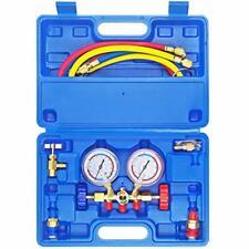 Jifetor 3 Way Ac Manifold Gauge Set Hvac Diagnostic Freon Charging Tool For A