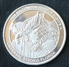 Universal Studios Florida HALLOWEEN HORROR NIGHTS IX 1999 Souvenir Coin Token