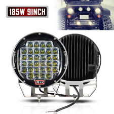 2x 9''inch LED Work Lights 225W Off Road Backup Driving for Jeep 4x4 Truck Round