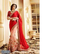 Nuevo Bollywood Indio/pakistaní étnico Diseñador Saree en georgette y neto