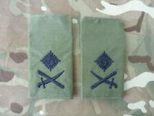 ROYAL MARINES & BRITISH ARMY COMMANDO RANK SLIDES OG MAJ GEN RM SBS RA RE REME