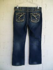 WOMEN'S SILVER JEANS PLUS SIZE 14 X 32 SUKI SURPLUS BOOT CUT STRETCH PRE OWNED