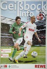 Geißbock Info 2011/12 1. FC Köln - Werder Bremen