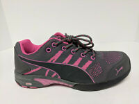 Puma Safety Celerity Knit Athletic SD Shoes, Pink/Grey, Womens 7 M