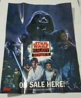 2010 Topps Star Wars Galaxy Series 5 Box Poster Insert. Han Leah Luke Vader NEW