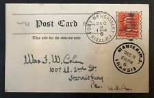 Philippines #4227 on 1906 Post Card Double Cancels