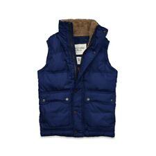 [NWT] Abercrombie & Fitch Mens Colden Dam Vest Parka Jacket Coat Blue Large A&F