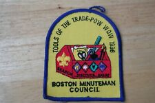 1996 BSA Boy Scout Tools Of The Trade POW WOW Boston Minuteman Council Patch