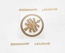 Kreidler Florett K54 0 0M Eiertank Aufkleber Logo Emblem Gold/Schwarz 38mm