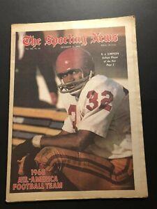 1968 Sporting News USC TROJANS OJ SIMPSON 1968 All Americans NO LABEL Heisman