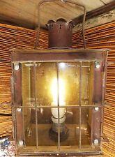 TISCH LAMPE LEUCHTE KERZENLEUCHTER GLAS MESSING GOLD KUTSCHE ANTIK 18. 19.?