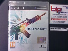 BODYCOUNT PS3 PLAYSTATION 3 PAL NUOVO SIGILLATO