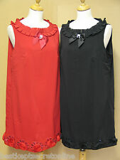 PLUS SIZE TOP SLEEVELESS EMBELLISHED NECK DETAIL LINED RED OR BLACK