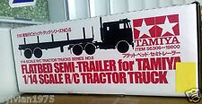 Tamiya # 56306 1:14 Flatbed Semi-Trailer - For RC Tractor Truck NEW IN BOX