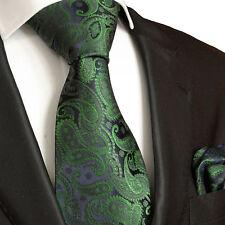 Grüne paisley Krawatten Set 2tlg Seidenkrawatten 510