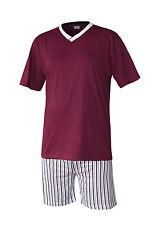 Herren Pyjama Schlafanzug kurz Shorty 100%25 Baumwolle M L XL XXL 3XL Übergrösse