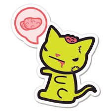 """Funny Zombie Cat car bumper sticker decal 5"""" x 4"""""""