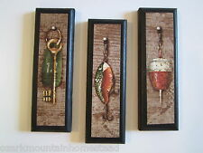 Fishing Lures Wall Decor Plaques small fish bait signs antique vintage baits key