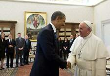 POPE FRANCIS FIRST VISIT TO USA and OBAMA PHOTO 8x10 FANTASTIC PICTURE  6