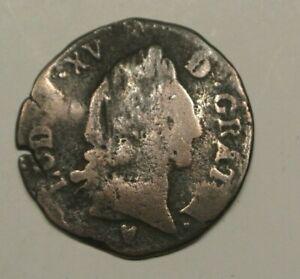 LOUIS XV RARE 1/2 SOL  AIX 1767     poids 4gr42   HISTORIQUE