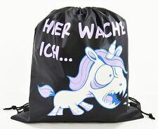 Turnbeutel Einhorn mit Flügel Unicorn Gym Bag Hipster Gymbag Sport Beutel Neu Sporttaschen & Rucksäcke