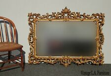 Vintage French Provincial Ornate Louis Xvi Rococo Wall Mantle Mirror by Turner