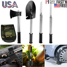 6-in-1 Multi Tool Survival Kit SHOVEL KNIFE SAW HAMMER NAIL PULLER W/ Pouch