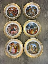 Grimms Fairy Tales Collectible Plates, Lot Of 6, Franklin Porcelain 1978 Rare