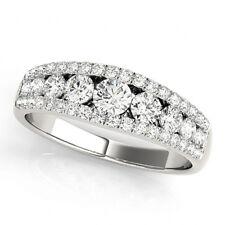 0.86 Carat White VS2-SI1  Diamond New Fashion Ring 14k White Gold