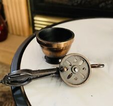 Vintage Collectible Durham Industries Miniature Brass Bowl & Beaters