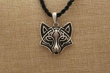 Slavic Head fox viking Pendant Necklace Animal talisman retro handmade
