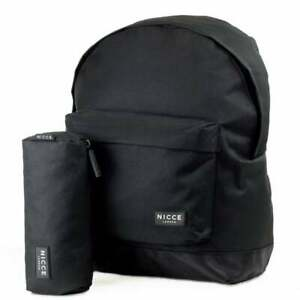 Nicce Geopard A18P Black Backpack & Pencil Case (NA15) RRP £29.99
