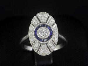 Schöner Saphir Brillant Ring 0,70ct (Gravur)    750/- Weißgold