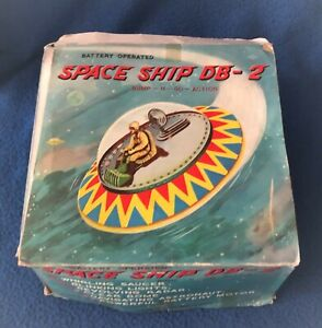 Battery Operated Space Ship DB-2 with Original Box