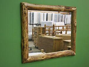 Rustic Log Mirror 40.5Lx34.5H - $379 - FREE SHIPPING