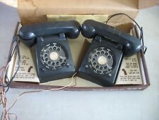 Vintage HappiTime 2 Phone Cradle Set w Signal light button in Original Box