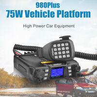 Mobile Ham Radio Transceiver VHF UHF 75W/50W Dual Band Walkie Talkie 2 Way Radio