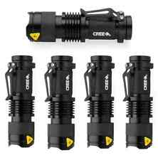 5pcs 1200LM CREE Q5 LED Zoomable Flashlight Torch Lamp Light hiking 50