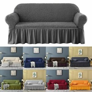 Sofa Protector 1/2/3 Seater Alternate Jacquard Sofa Cover Elastic Slip Covers UK