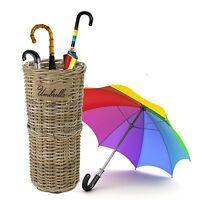 Kubu Rattan Wicker Weave Umbrella Stand Brolly Storage Basket Holder Bin Rack