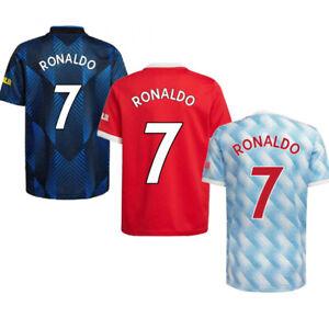 Manchester United Home #7 Cristiano Ronaldo Jersey 2021-22 Short Sleeve Shirt