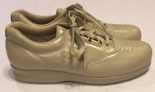 Unworn SAS Free Time Beige Leather Oxford Shoes Womens 8.5 S Lace Up Comfort USA