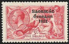 IRELAND - KGV Seahorse 5/- Rose-Carmine Overprint *MINT HINGED* SG 65 (CV £85)