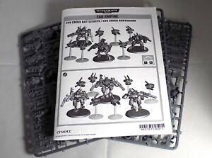 XV8 Crisis Battlesuit Team 3 Miniaturen Tau 6 Drohnen Warhammer 40k GW Spiel