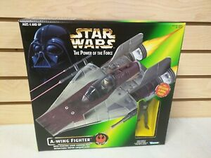 Star Wars PotF A-Wing with Exclusive A-Wing Pilot Action Figure Hasbro 1997